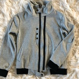 Grey jacket with black detail